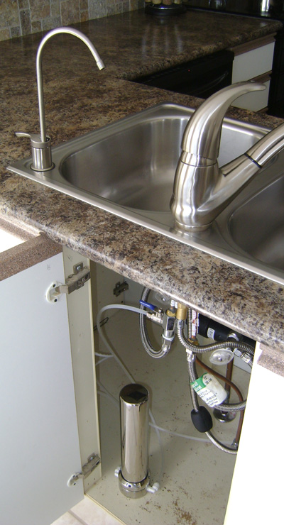 Faucet with an undercounter water filter